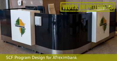 SCF Program Design for Afreximbank 1 WiP